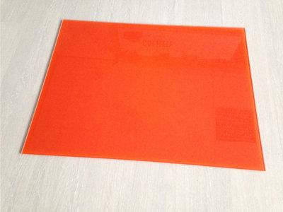 Keukenachterwand gehard glas RAL2004 - Oranje