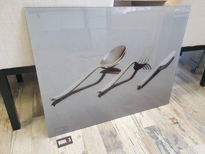 Glaswand met print - 90x70cm