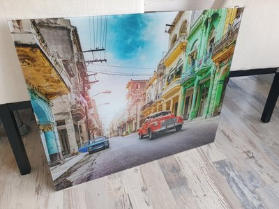 Glaswand met print - 90x75cm