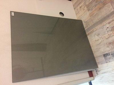*VERKOCHT* Glaswand Parelmoer Muisgrijs - 90x66,4 cm