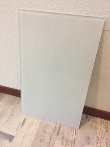 Glaswand wit - 53x32,9 cm