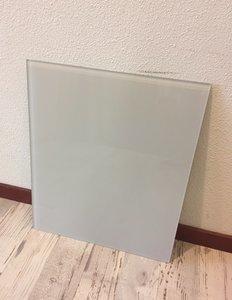 Glaswand lichtgrijs - 47,5x40,1 cm