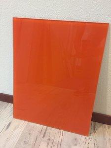 Glaswand oranje - 50,7x40 cm