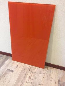 Glaswand oranje - 80,4x50,6 cm