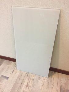*VERKOCHT* Glaswand wit - 72,7x39,9 cm