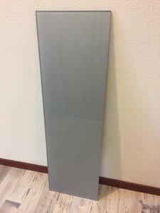 Glaswand metallic grijs - 98,6x29,9 cm