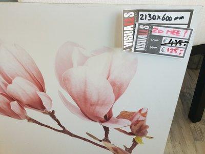 *Verkocht* Afgeprijsd -Keukenachterwand met print - 213x60cm