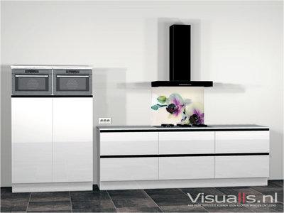 Keukenachterwand P76 Premium Glas - Visualls.nl